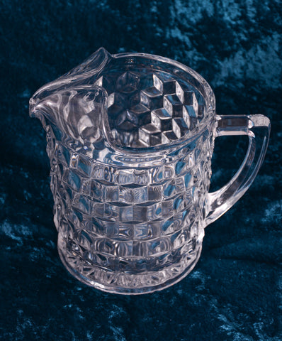 "Fostoria ""American"" Pattern Water Pitcher"