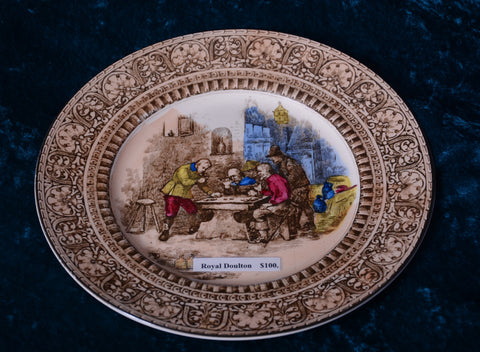 Royal Doulton Hand-Painted Plate