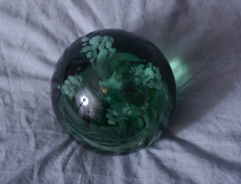 Green Glass Paper weight