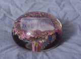 "Antique Blown Glass Paperweight ""1896"""
