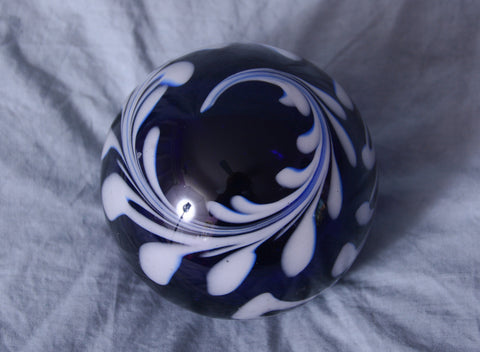 Midnight Blue Glass Paperweight
