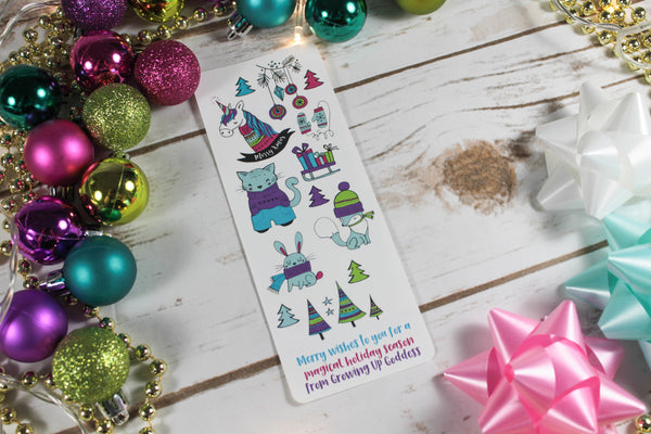 Free winter Christmas sticker set with purchase