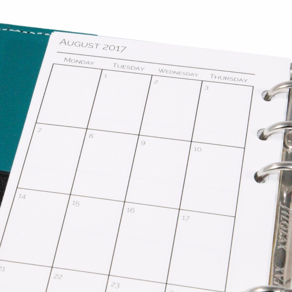 photo regarding Printable Planner Inserts known as 2017/2018 Educational Yr - Thirty day period upon 2 Webpages Planner Inserts Printable