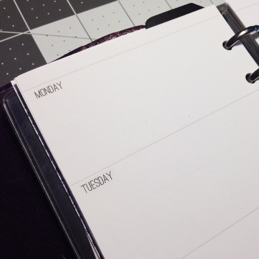 Week on Two Pages Planner Inserts Printable Digital - Growing Up Goddess