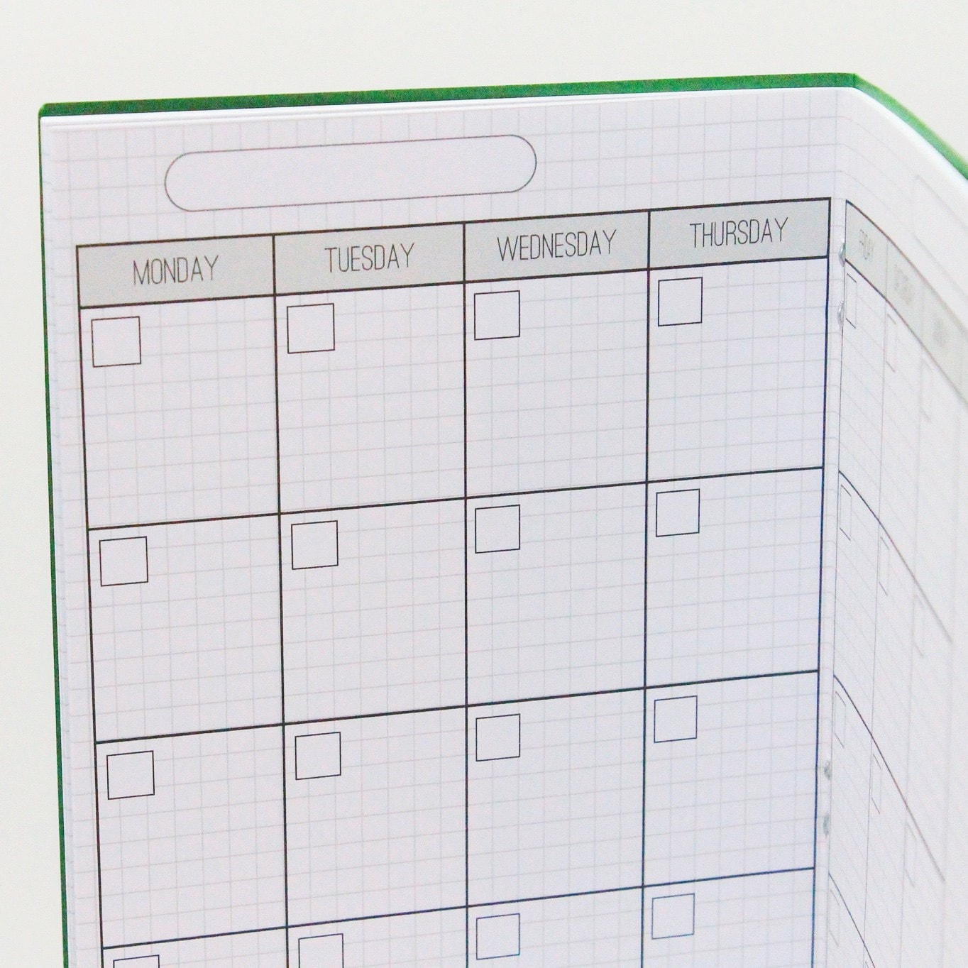 Monthly Grid Planner Notebook Printable Digital - Growing Up Goddess