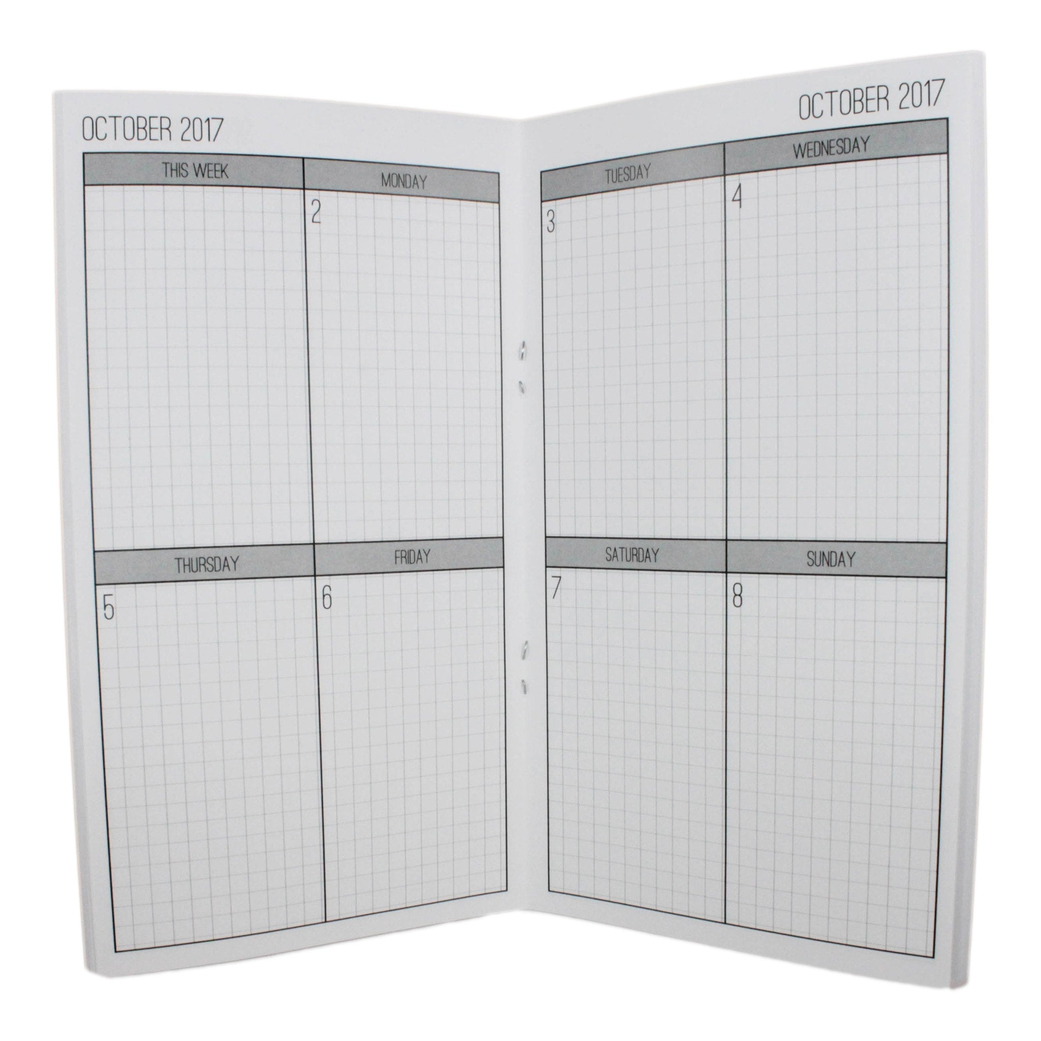 image relating to Notebook Printable named 2018 Weekly Grid Vertical Planner Laptop computer Printable