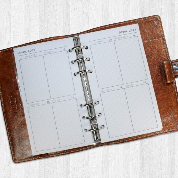 2018 Vertical Week on Two Pages Planner Inserts Printable..