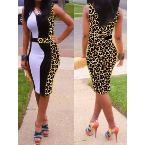 Trendy Red OR Leopard Dress