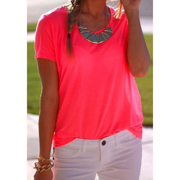 Short Sleeve Rose Colored Shirt