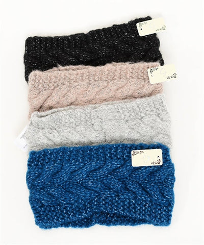 Cute Assorted Headbands (Red, Black, Blue, Tan & Gray)