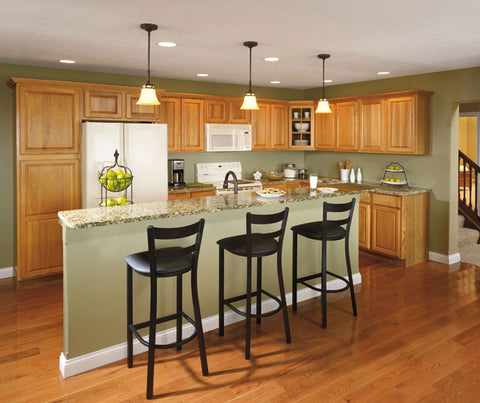 Aristokraft Hickory Pioneer Kitchen Cabinets with Wheat finish