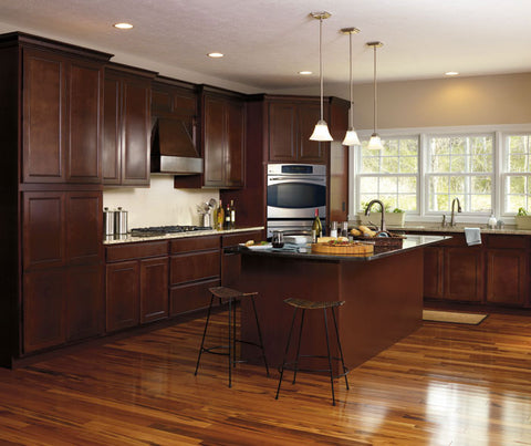 Aristokraft Maple Landen Kitchen with Java Glaze Finish
