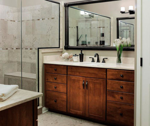 Aristokraft Harrison Rustic Cabinets in Bathroom