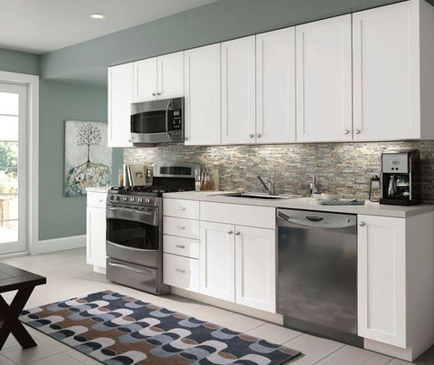 Aristokraft Thermofoil White VanWyke Kitchen Cabinet