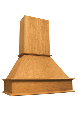 Freestanding Transitional Wood Hood and Chimney, sold separately