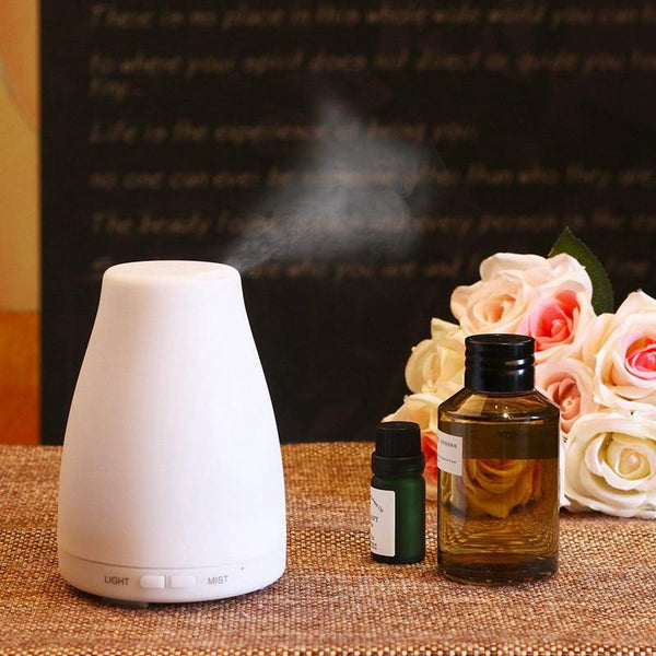 7 Mood Colors -  Portable Essential Oil Diffuser with Ultrasonic Cool Mist Humidifier