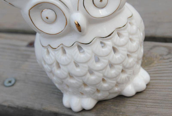 Owl Design Oil Burner