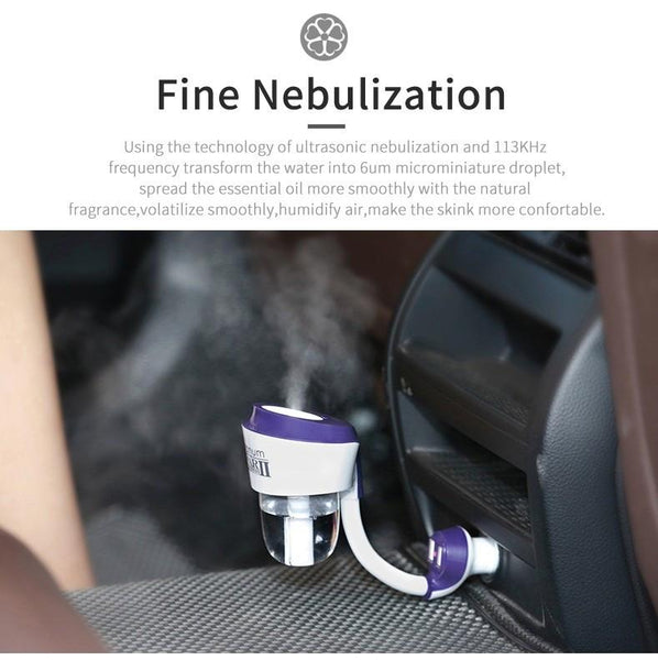 Car Humidifier, Air Purifier & Essential oil diffuser. Great for any car! UPGRADED version now comes with built in USB ports
