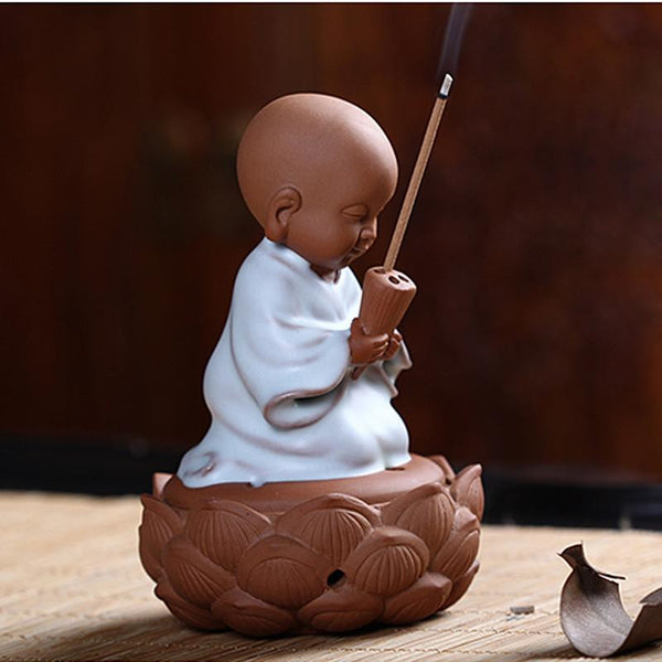 Small Monk Incense Burner