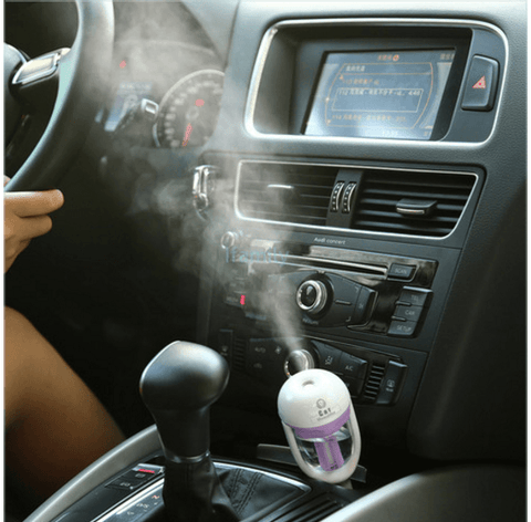 Aromatherapy For Your Car - Portable Cool Mist Ultrasonic Humidifier with Aroma Diffuser - 50% OFF