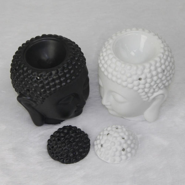 Buddha Head Oil Burner - White and Black Available!