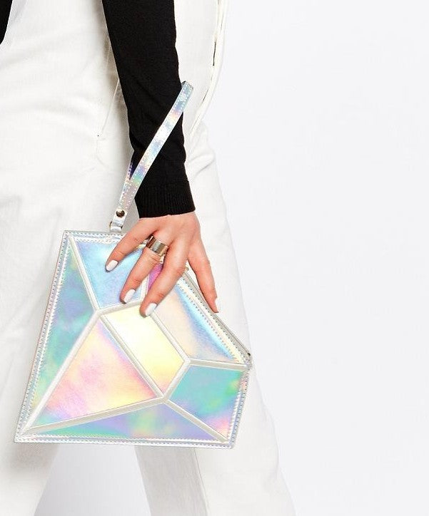 Iridescent Diamond Clutch