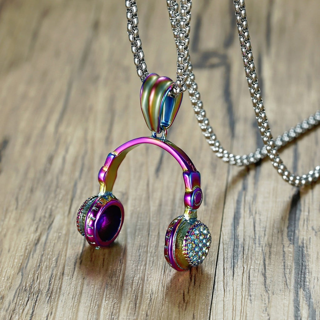 Headphones Pendant Necklace