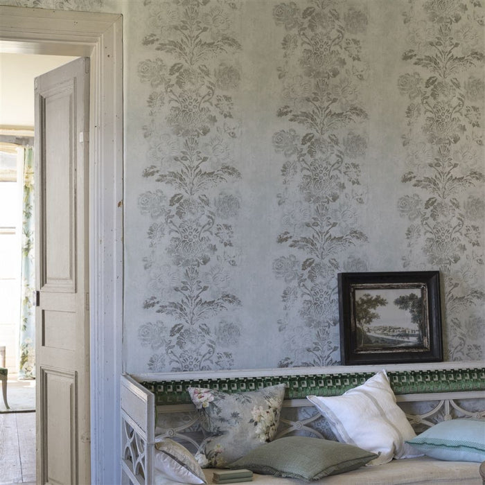 Buy Designers Guild  Caprifoglio Wallpapers   Damasco   Linen     PDG674 08 -Online Happymonk India