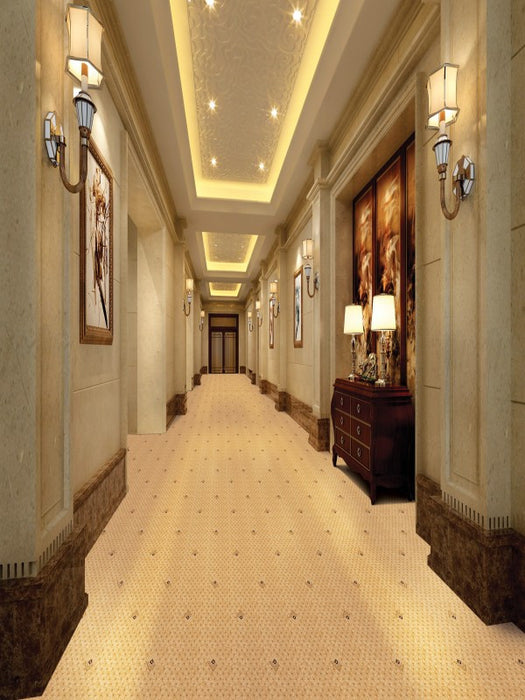 Buy Divine Welcome Runners-WW  Orion Gold Cream carpets -Online Happymonk India