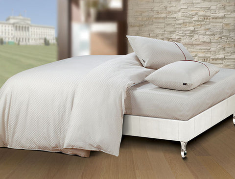 Buy Oxford Single Duvet Cover in Champagne Colour -Online Happymonk India