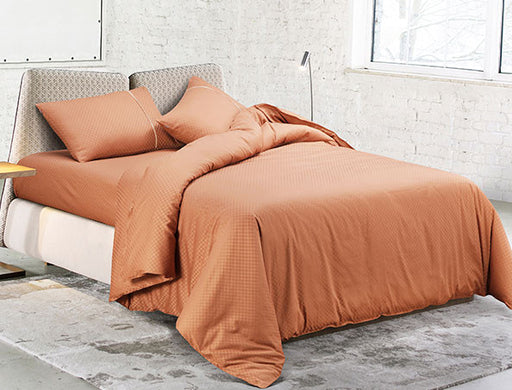 Buy Oxford Single Duvet Cover in Copper Colour -Online Happymonk India