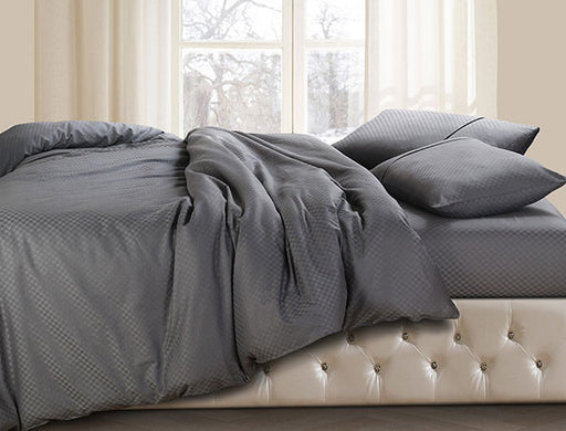 Buy Oxford Single Duvet Cover in Grey Colour -Online Happymonk India
