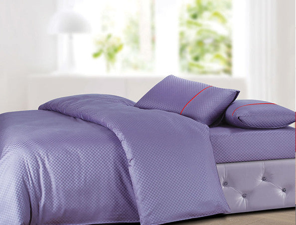 Buy Oxford Single Duvet Cover in Lilac Colour -Online Happymonk India