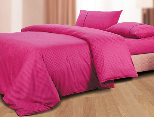 Buy Oxford Single Duvet Cover in Magenta Colour -Online Happymonk India