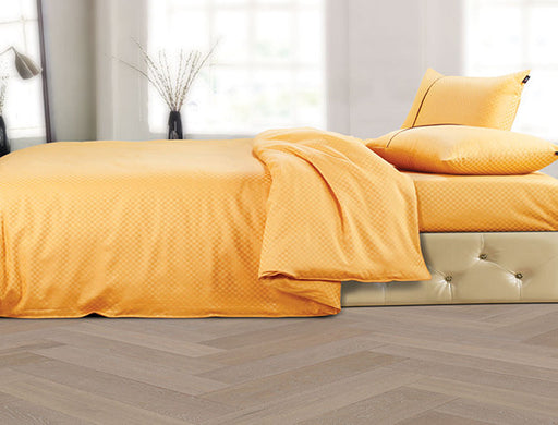 Buy Oxford Single Duvet Cover in Mustard Colour -Online Happymonk India