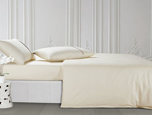 Buy Oxford Single Duvet Cover in Off White Colour -Online Happymonk India