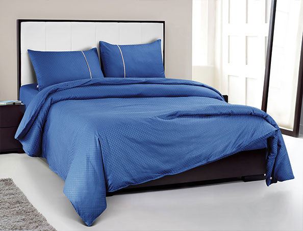 Buy Oxford Single Duvet Cover in Royal Blue Colour -Online Happymonk India