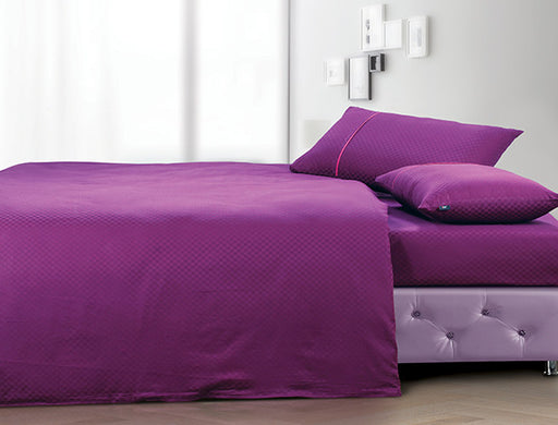 Buy Oxford Single Duvet Cover in Wine Colour -Online Happymonk India