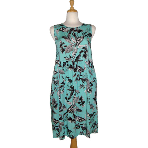 Abigail Dress - Teal Floral