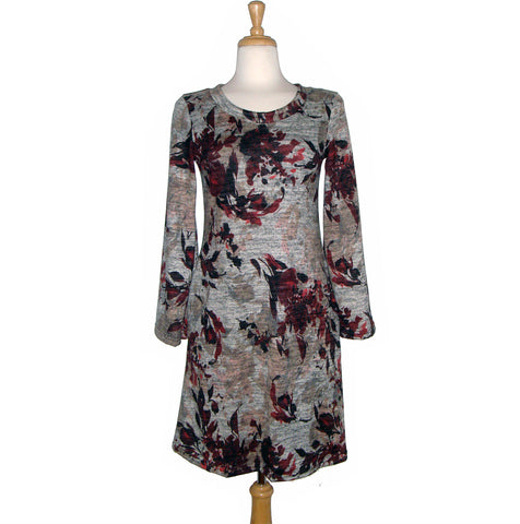 Celeste Dress - Maroon Floral