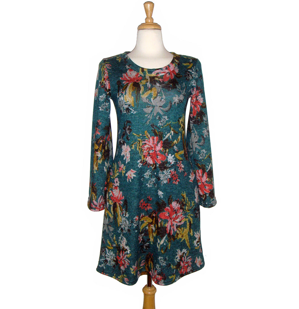 Celeste Dress - Teal Floral - Sale