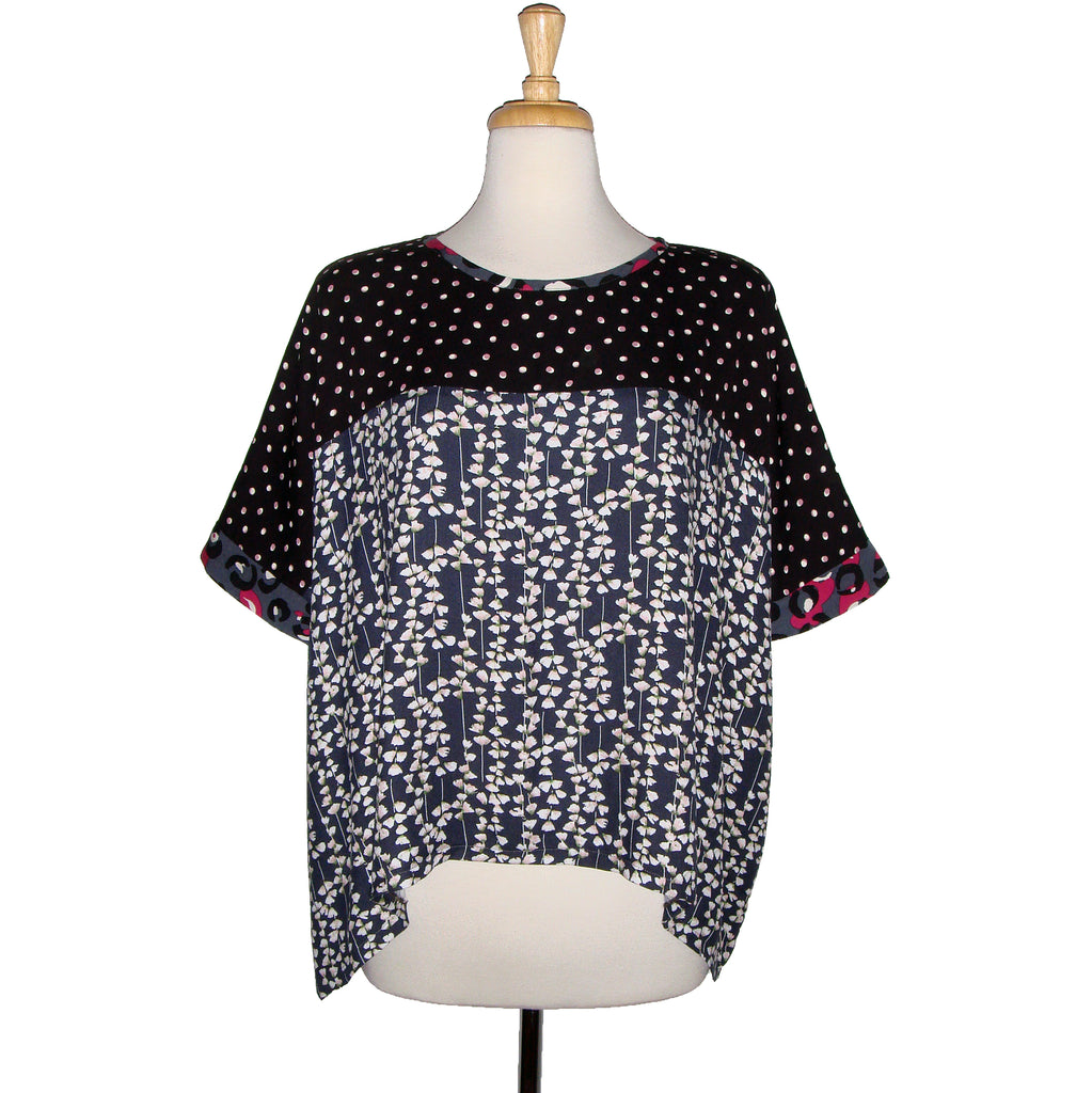 Chloe Top - Floral Dots Trio