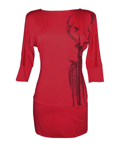 Dania Tunic - Jo the Elk - Red