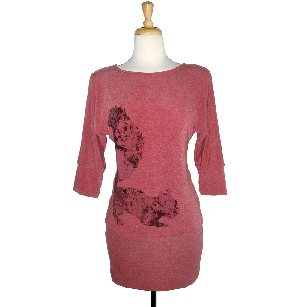 Dania Tunic - Squirrel - Raspberry