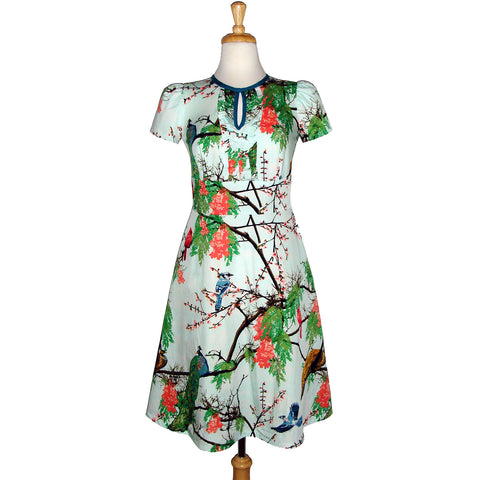 Frills Dress - Birds