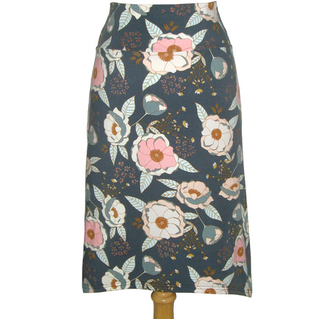 Midi Skirt - Dusty Floral