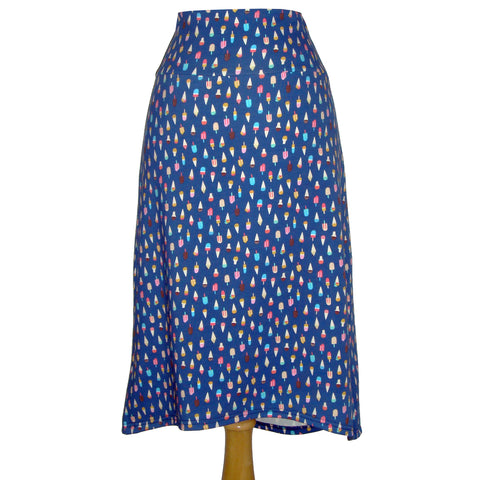 Midi Skirt - Ice Cream and Popsicles