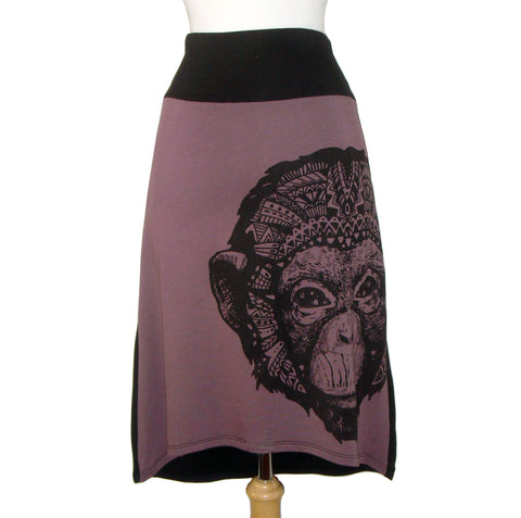 Midi Skirt - Monkey - Violet - Sale
