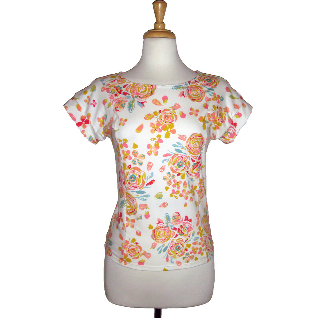 Panel Tee - Yellow Floral - Sale