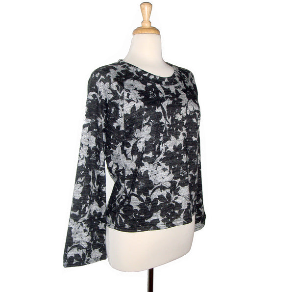 Raglan Top - Black and Grey - Sale